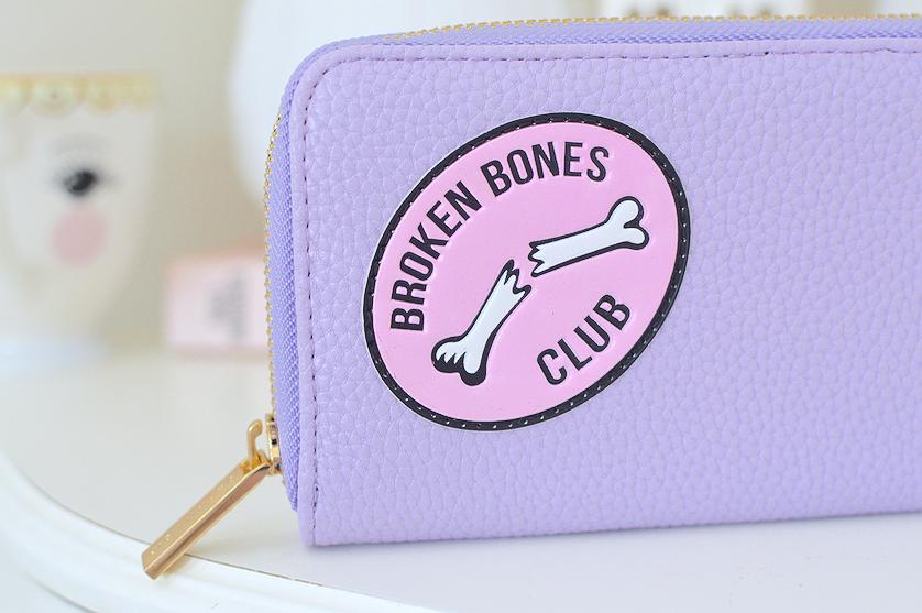 skinnydip london broken bones purse