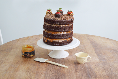 Four layer chocolate and salted caramel cake!