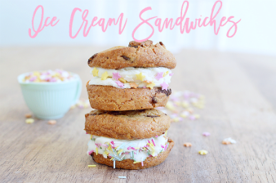 Cookie ice-cream sandwiches!